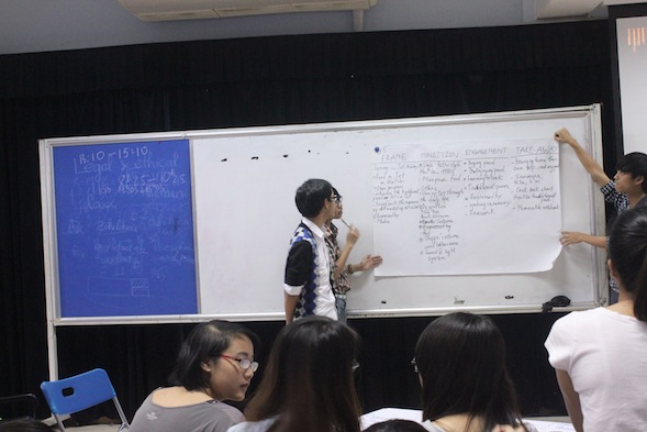 Students of Management & Tourism Faculty were giving a group presentation on their proposed event concept.