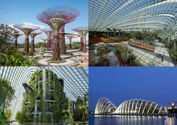 Gardens by the Bay, Singapore. Designed by: Grant Associates, CPG (Singapore), Wilkinson Eyre (UK). PHOTOS: Craig Sheppard - Grant Associates.