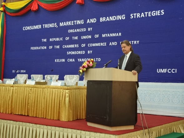 Consulus Myanmar speaks at Consumer Trends, Marketing and Branding Strategies Seminar