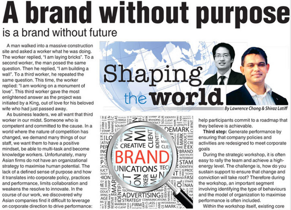 A Brand without Purpose  is a Brand without Future