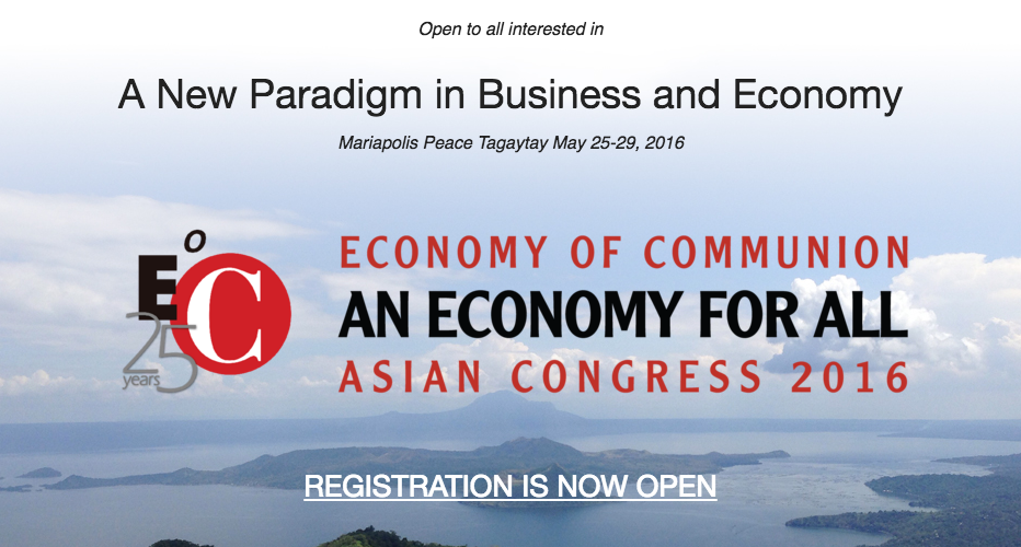 CEO of Consulus speaks at Economy of Communion Asian Congress 2016