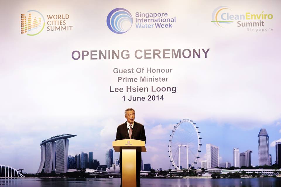 Mr Lee Hsien Loong, Prime Minister of Singapore, officially opened three co-located global events focusing on integrated urban sustainability solutions – the World Cities Summit (WCS), Singapore International Water Week (SIWW) and CleanEnviro Summit Singapore (CESS) taking place on 1 to 5 June 2014.