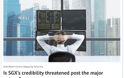 Is SGX's credibility threatened post the major outage? – Consulus comments on Marketing Magazine