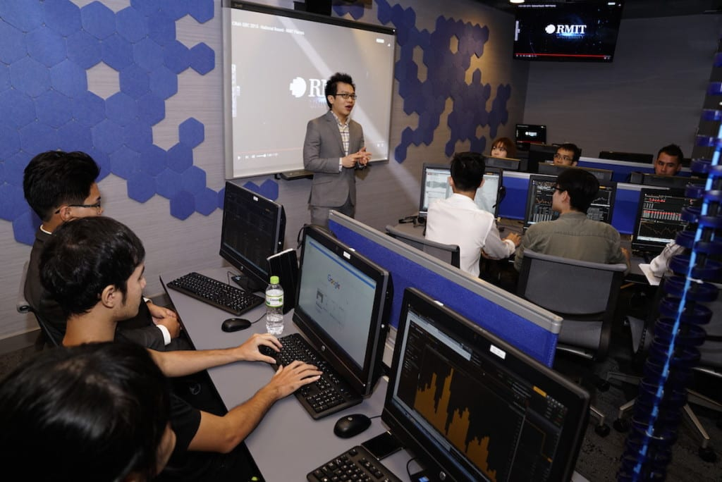 RMIT Vietnam Financial Trading Lab. Source: RMIT Vietnam