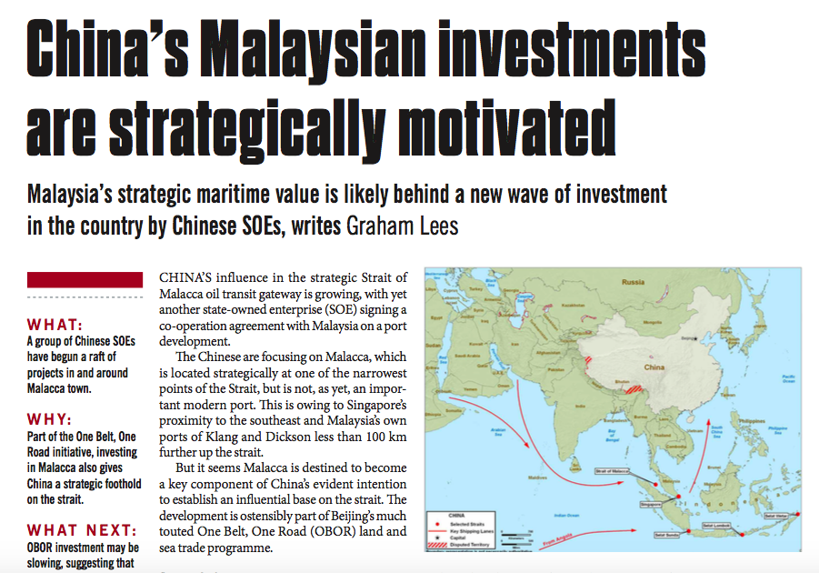 China's Malaysian investments are strategically motivated – Consulus comments on NewsBase