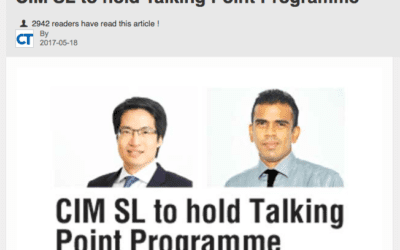 CIM SL to hold Talking Point Programme – Ceylon Today (Sri Lanka)