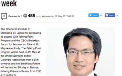 S'pore Consulus Global Innovation Consultancy CEO at CIM SL forum next week – Consulus on The Daily FT (Sri Lanka)